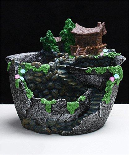 XYZ Semplice da giardino in resina - a forma di Succulente Vaso da fiori, vasi da fiori, verde Piantare Piante in vaso Pot per balcone delicato durevole ( colore : B. )