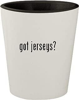 got jerseys? - White Outer & Black Inner Ceramic 1.5oz Shot Glass