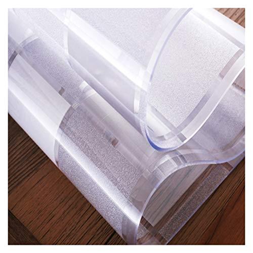 AWSAD Transparente Impermeable Manteles Mantel Plastico Alfombra Proteger Suelo Blando de PVC Rejilla Cuadrada Transparente Usado para Guardarropa Cocina Alfombra, 2 Espesores
