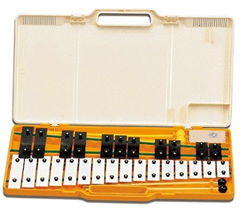 CARRILLON Ángel (AX27K) Cromatico (27 Teclas) Blancas y Negras (4 Mazas) Xilófono en maletin