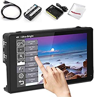 Feelworld LUT6 6 Inches 3D LUT 4K HDMI Touchscreen Camera Monitor, HDMI Input & Output, 368PII, FHD 1920 * 1200, 2600nit D...