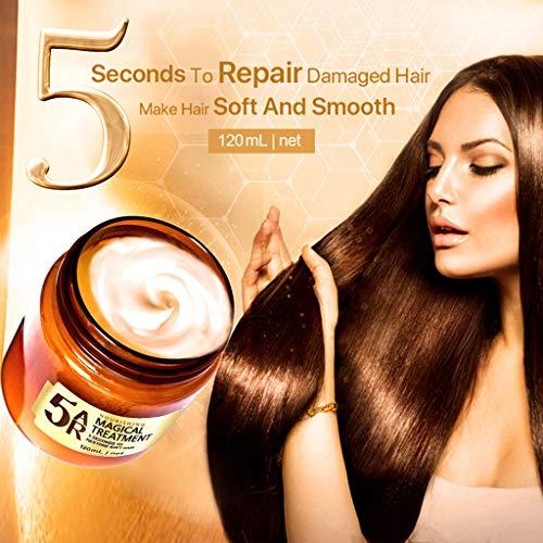 BESSKY Haarmaske, Hair mask mit Arganöl, Entgiftende Haarmaske, Fortschrittliche Behandlung der Molekularen Haarwurzeln Haar Haarkur für Strapaziertes Haar, Hair Conditioner, 120ML