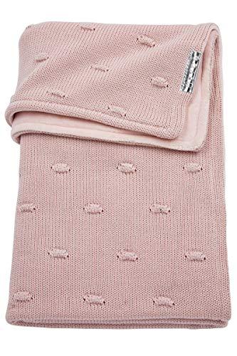 Meyco 2754052 babydeken wintergebreid met velvet en knopen 100x150 cm, roze