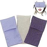 Almohada para los ojos'Pack Duo Topos Lila' (1 relleno y 2 fundas lavables)   Semillas de Lavanda y...