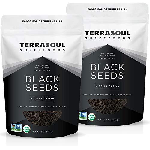Terrasoul Superfoods Organic Black Cumin Seeds (Nigella Sativa), 2 Lbs - Digestive Health   Immunity