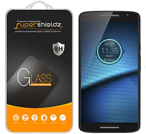 (2 Pack) Supershieldz Designed for Motorola (Droid Maxx 2) Tempered Glass Screen Protector, Anti Scratch, Bubble Free