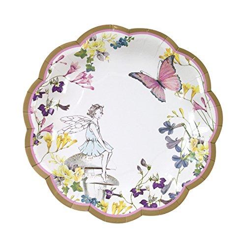 Talking Tables Truly Fairy, kartonnen borden voor verjaardagen (kinderen, babies), theekrans, feesten en feesten, kleurrijk, 18 cm (12 per pak in 1 design)