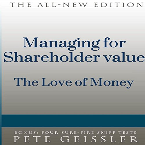 Managing for Shareholder Value audiobook cover art
