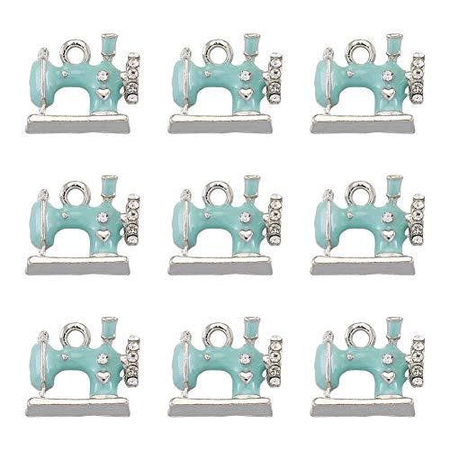 Craftdady 5 colgantes de aleación con diamantes de imitación para hacer joyas, collares, pulseras, etc.
