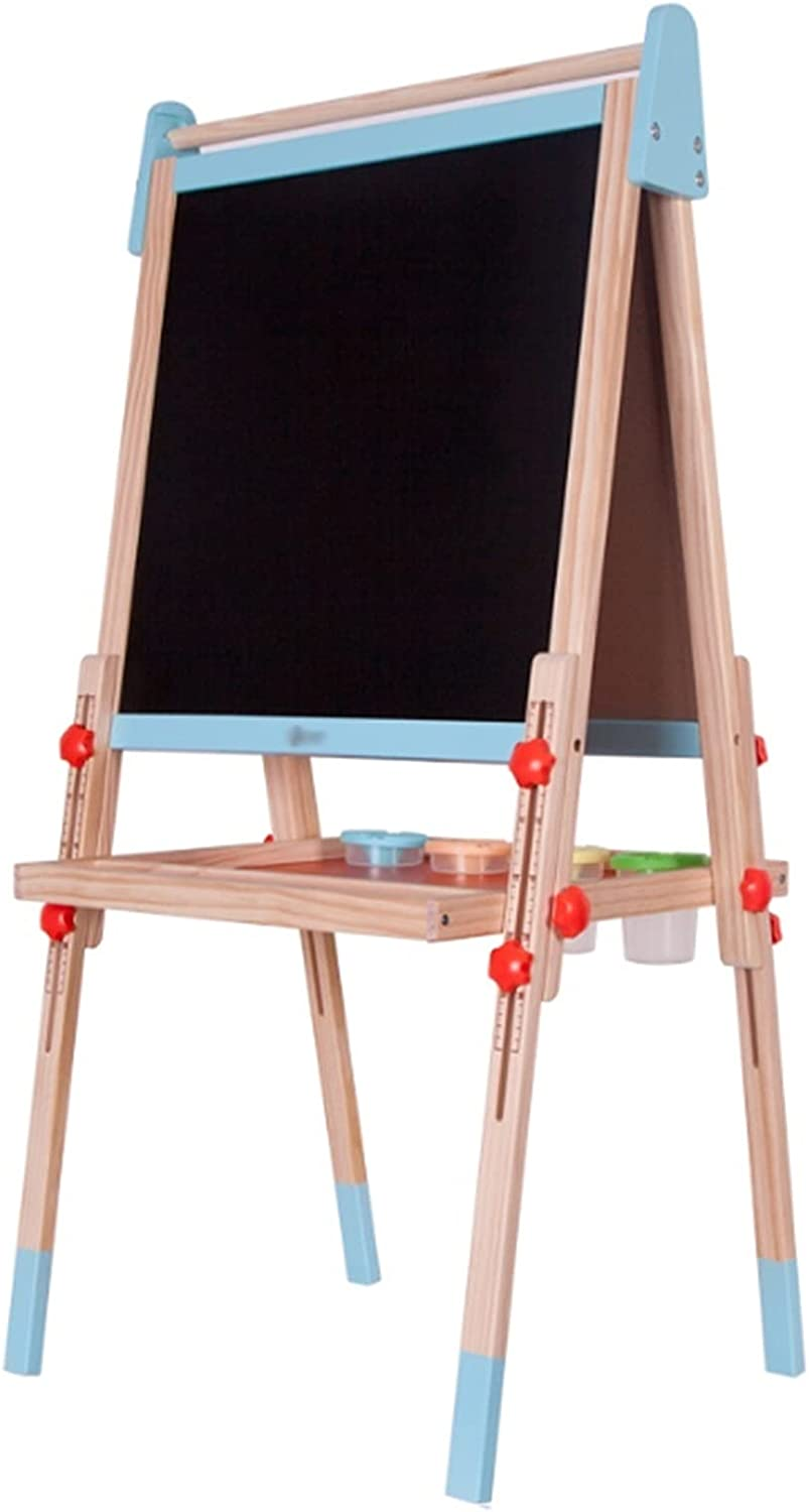LICHUAN Kids Easel Double-Sided Ranking TOP5 Magnetic Board Wooden A Limited price Drawing