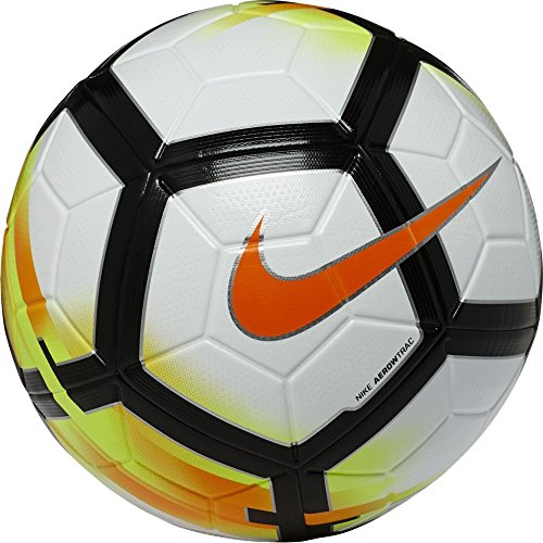 Nike Unisex – Erwachsene NK Ordem-V Fu&ampszligball, wei&ampszlig/(White/Laser Orange Black), 5, 38