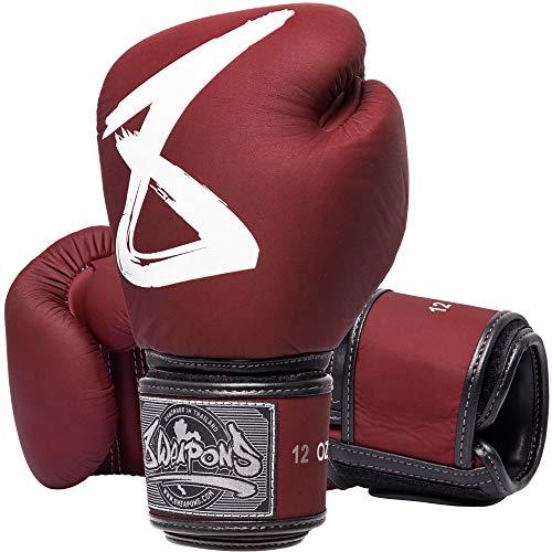 8 Weapons Boxhandschuhe, Big 8 Premium, rot - Hochwertige Boxhandschuhe aus Echtleder (16 Oz)