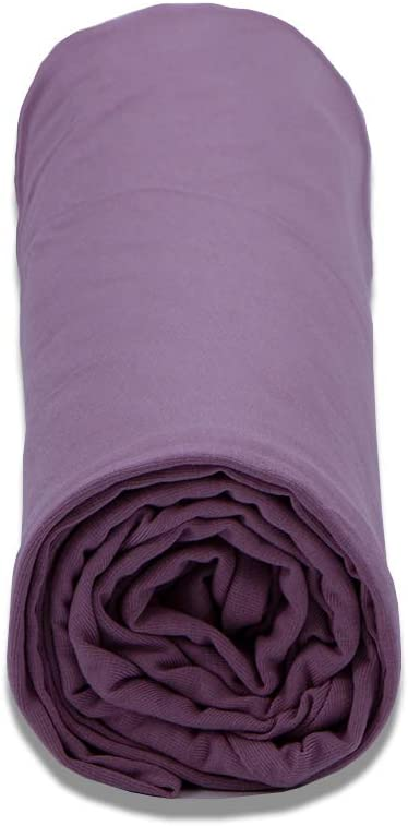 INSEN Pregnancy Pillowcase,Maternity Body Pillow Cover,H Shaped Body Pillowcase for Pregnant Women (Purple Jersey, H Shaped)