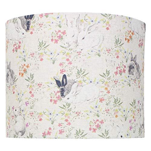 Lampenschirm, Blumenmuster, Leinenmuster, mehrfarbig, 40 cm Diameter x 25 cm High Ceiling Pendant