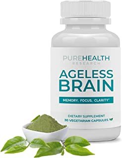 Ageless Brain by PureHealth Research - Memory, Focus & Clarity. Doctor Formulated, Brain Supplement for Healthier Brain, S...