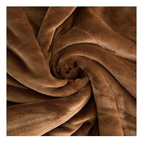 LYQZ Morbido Coperta Coperta di Asciugamani tiepida Coperta Invernale Tie per Divano Letto Divano Regalo (Color : Brown, Size : 150 * 200cm)