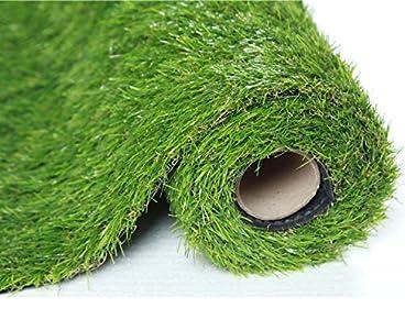 Sumc Césped artificial para jardín, balcón, altura de la fibra 30 mm, césped de plástico, alfombra, verde, 100 x 200 cm