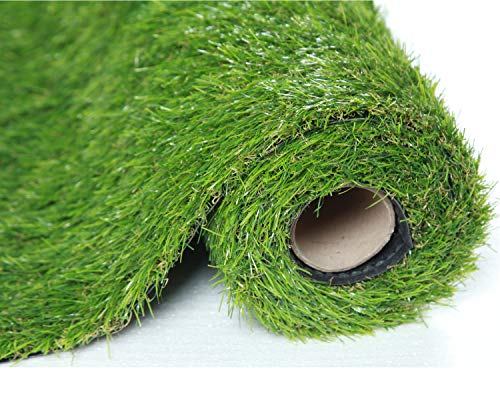 Sumc Artificial Grass Outdoor Green High Density Fake Lawn Turf of Dogs...