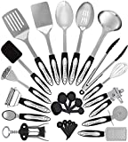 Home Hero Stainless Steel Kitchen Cooking Utensils - 25 Piece Utensil Set - Nonstick Kitchen...