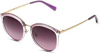 XiAnGuoJiGangWuQvChengBeiBaiHuoDian1 HEHUIHUI- La Dama de la Moda de los Deportes al Aire Libre Que Conduce Gafas de Sol polarizadas Protege los Ojos del daño UV (Negro) (Color : Purple)