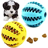 Youngever 2 Pack Dog Ball Toys for Pet Tooth Cleaning,...