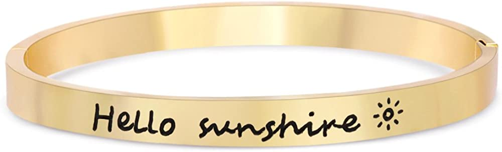TUSHUO Three Gold/Rose Gold/Sliver Plated Engrave with Hello Sun