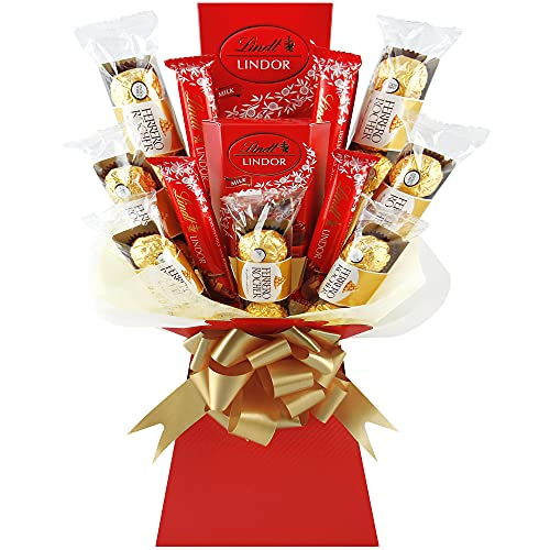 Ferrero Rocher & Lindt Lindor Chocolate Bouquet Hamper - The Perfect Chocolate Gift