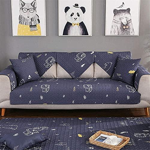 ADIS Funda de sofá de algodón moderno y simple antideslizante para sofá de cuatro estaciones universal sala de estar sofá cubierta D_70 x 90 cm
