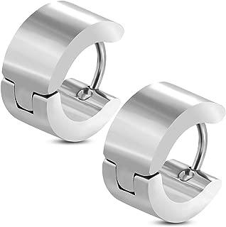 Zense Zense-Orecchini uomo in acciaio con anello e CZ ZE0003 diamante