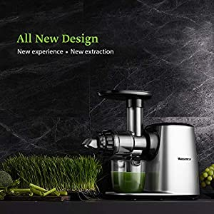 Juicer Machine Easy to Clean, Willsence Slow Masticating Juicer Extractor with 5 Mode Adjustment, Quiet Motor & Reverse… |