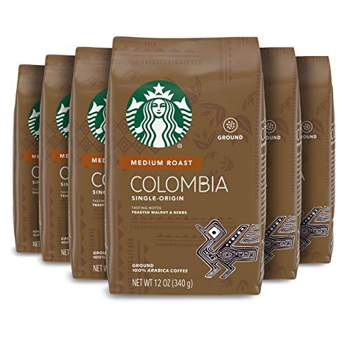Starbucks Medium Roast Ground Coffee — Colombia — 100% Arabica — 6 bags (12 oz. each)