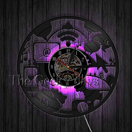 WYLYSD LED Reloj de Pared Grande Reloj...