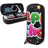Astuccio per matite Clipart Compleanno Bollettino PU Custodia in pelle Borse portaoggetti Portamonete con cerniera portatile