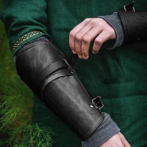guanti medievali LiféUP Guanti protettivi Esterni in Pelle protettivi per Braccia