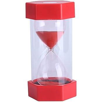 Fdit Sablier 3//10//20//30//60 Minutes /à la Maison ou au Bureau ou en d/écoration Cadeau 3 Minutes Jaune Rouge