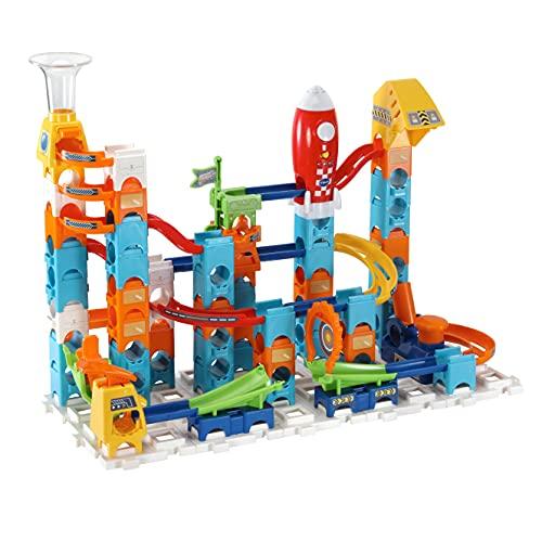 VTech Marble Rush Rocket Set Electronic M100E-Circuito de canicas-Juguetes de construcción niños +4 años-Versión ESP (3480-542249), Color