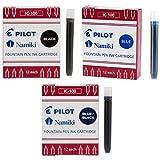 Pilot Namiki IC100 Fountain Pen Ink Cartridge Black, Blue, Blue/Black (69100-69101 - 69102)