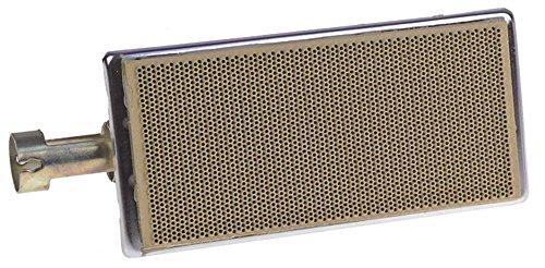 North Keramikbrenner für Gyrosgrill DG103 Breite 81mm Länge 205mm für Gyrosgeräte 158x73mm Brennbereich 158x73mm