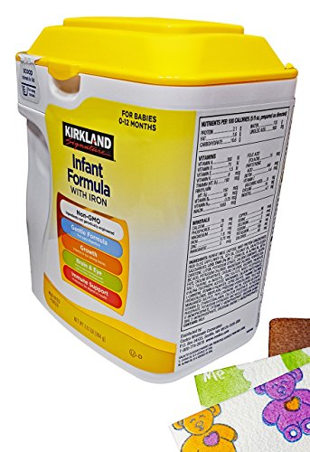 Kirkland Baby Formula with Iron, 2.13 Lb . Plus Free Bonus 1 Pack of 6 Disposable Baby Bibs.