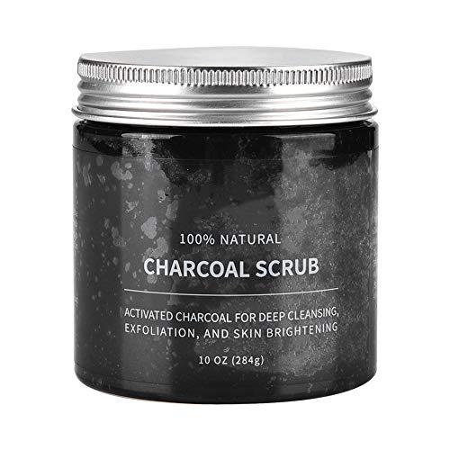 Carbón activado, removedor de piel muerta, exfoliante natural rico en aloe vera orgánico, para eliminar las espinillas y exfoliar las mujeres