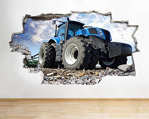 Traktor Bauernhof Jungen Schlafzimmer Tiere Land zerschlagen Wandtattoo 3D Kunst Aufkleber Kinder Schlafzimmer Baby Kinderzimmer Poster Wohnzimmer Jungen M?dchen Wandbild