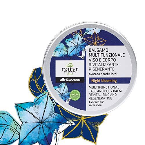 Natyr Night Blooming Körperöl mit Avocado und Sacha Inchi Öl 30ml - Körperpflege für straffe und weiche Haut 150ml - Naturkosmetik mit Glow Effekt