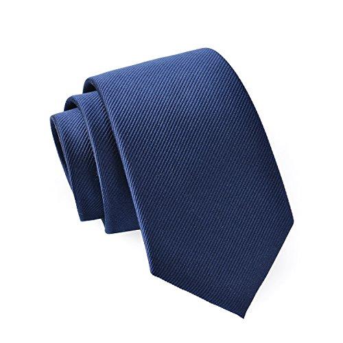Massi Morino ® Seidenkrawatten für Herren - handgenähte Krawatte Massimorino Kravatte blau blaue dunkelblau naviblau marineblau ozeanblau pazifikblau dunkelblauekrawatte brombeerblau