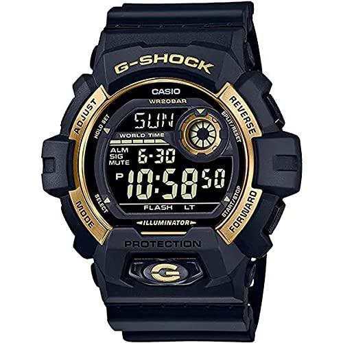 RELÓGIO CASIO G-SHOCK MASCULINO PRETO/DOURADO G-8900GB-1DR