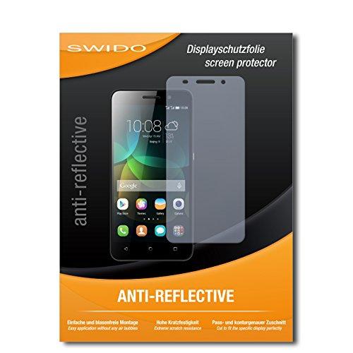 SWIDO Bildschirmschutz für Huawei Honor 4c [4 Stück] Anti-Reflex MATT Entspiegelnd, Hoher Härtegrad, Schutz vor Kratzer/Glasfolie, Schutzfolie, Bildschirmschutzfolie, Panzerglas Folie