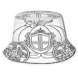 PUIO Cappello da Pesca,Ornamento di Zucca Carrozza Cavallo Disegnato a Mano,per Cappello da Sole da Viaggio Canottaggio Cappello da Pesca Cappello da Pescatore