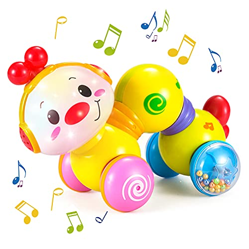 HOLA Baby Musical Toys 6 to 12 Months Press and Go Inchworm Crawling...