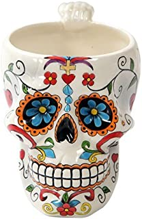 Pacific Giftware Colorful Day Of The Dead Skull Drinking Mug Home Decor