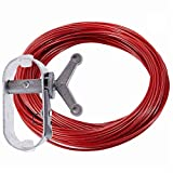 100CW 100-Feet Cable and Heavy-Duty Winch for Securing Above Ground Pool Covers