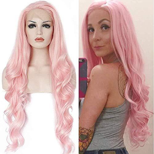 SMYUI Perruque Femme Naturelle Perruque Lace Front Soft Hair Top Lace Naturel Noir Couleur avec Baby Hair Couvre-cheveux bouclés ondulés 26\